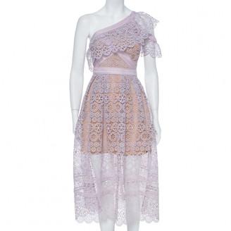 Self-Portrait Purple Lace Dresses