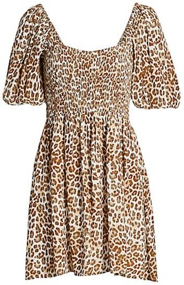 Faithfull The Brand Ilaria Leopard Mini Dress
