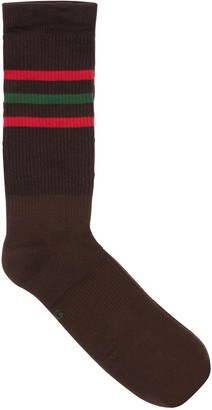 Gucci Logo Stripe Jacquard Cotton Blend Socks
