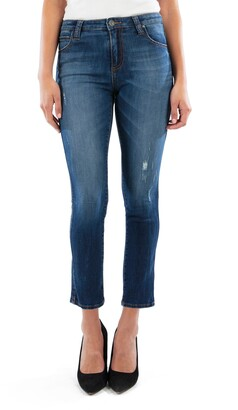 KUT from the Kloth Megan Distressed Ankle Cigarette Jeans