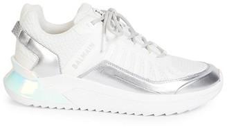 Balmain B Trail Metallic Logo Sneakers
