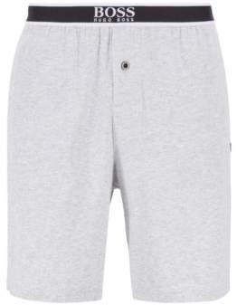 BOSS Regular-fit pyjama set in interlock jersey with bamboo