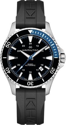 Hamilton Khaki Navy Automatic Rubber Strap Watch, 40mm