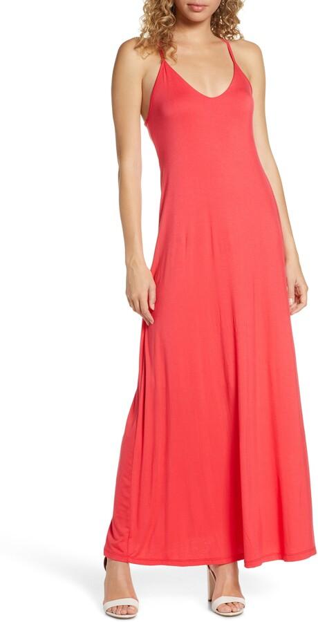 Fraiche by J Racerback V-Neck Maxi Dress