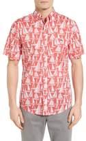 Vineyard Vines Boats Tucker Slim Fit Print Sport Shirt