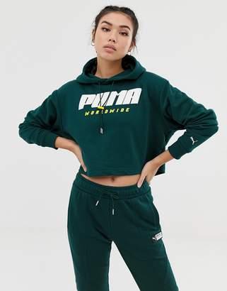 Puma Training Hoodie In Green