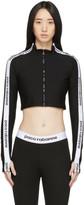 Paco Rabanne Black Bodyline Zip-Up Sweatshirt