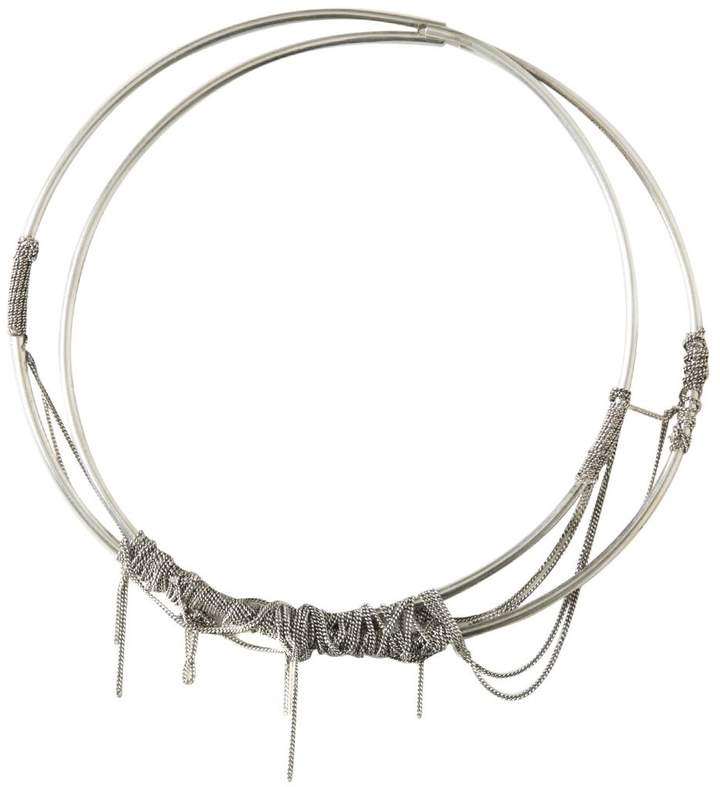 Ann Demeulemeester Multichained Silver Necklace