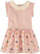 Little Green Radicals Peter Pan Dress (Baby) - Pale Pink-9 Months