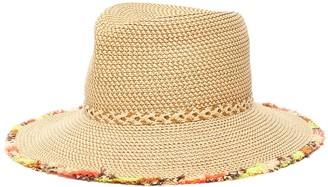 Eric Javits 'Mykonos' Rainbow Fringe Fedora Hat