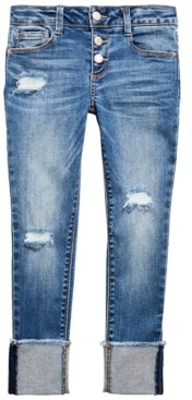 Imperial Star Big Girls Ripped Cuffed Jeans