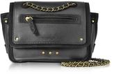 Jerome Dreyfuss Benji Leather and Suede Mini Crossbody Bag