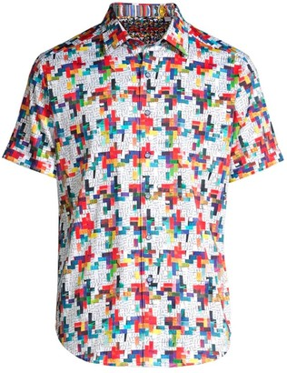 Robert Graham Classic-Fit Ransom Note Short-Sleeve Shirt