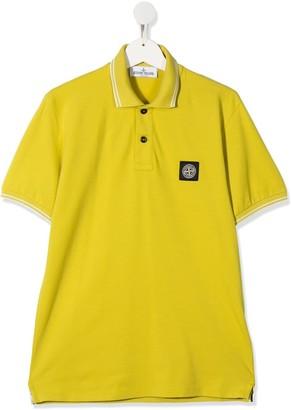 Stone Island Junior TEEN compass-patch polo shirt