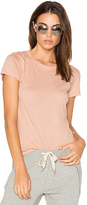 Monrow Fitted Crew Tee in Pink