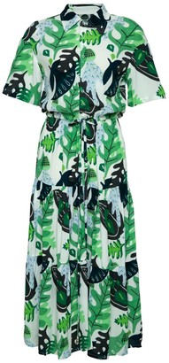 State Of Georgia The Walk In The Park Dress In Cactus Green