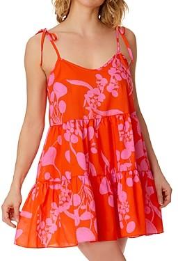 Hanky Panky X Cynthia Rowley Orange Crush Chemise Nightgown