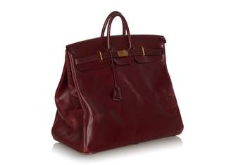 Hermes Birkin Voyage Burgundy Leather Travel bags
