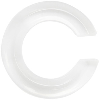 Saskia Diez Transparent Semiprecious Crystal Small Ear Cuff