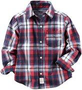 Carter's Plaid Button Down Shirt (Toddler/Kid) - Plaid - 2T