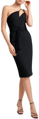 Forever New Suzie Asymmetric Neckline Bar Dress
