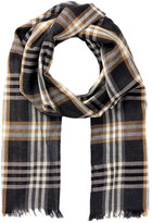 Amicale Lightweight Plaid Scarf