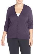 Sejour Plus Size Women's V-Neck Cardigan