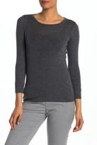 Vince 3/4 Length Sleeve Wool T-Shirt