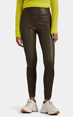 Sprwmn Women's Leather Leggings - Green