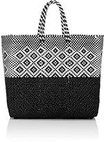 Truss Women's Woven Medium Tote Bag-Black