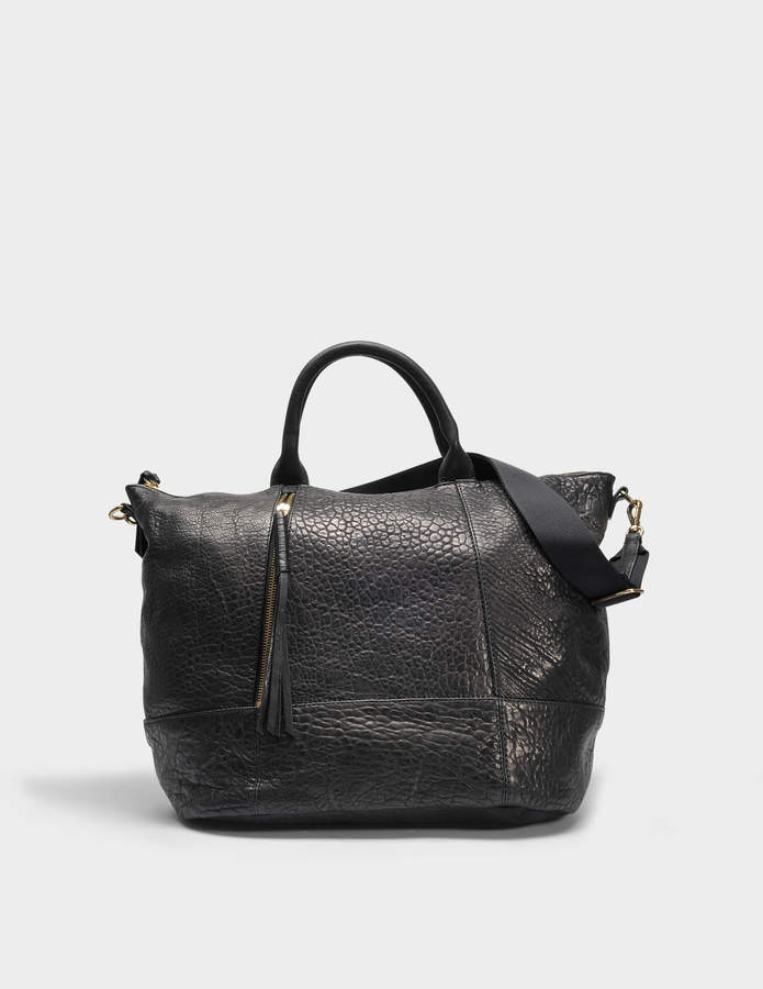 Gerard Darel Only You Tote Bag in Black Calfskin