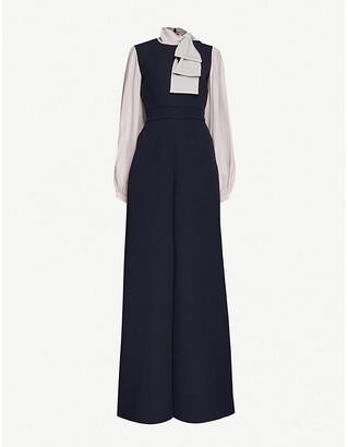 Roksanda Hiram bow-detail wide-leg crepe jumpsuit