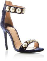 Louis Leeman Velvet Pearl Strap Sandal