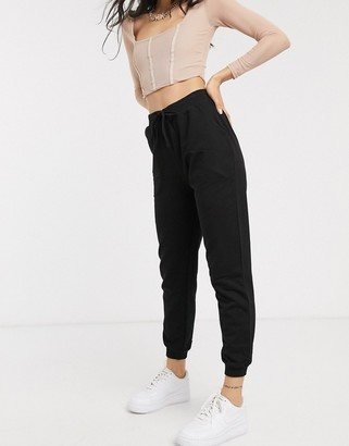 Asos DESIGN basic sweatpants with tie waist in organic cotton