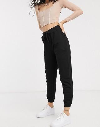 ASOS DESIGN basic sweatpants with tie waist in organic cotton