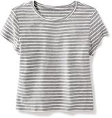 Old Navy Cropped Boyfriend Tee for Girls