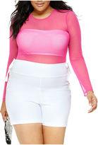 Fashion to Figure Brielle Long Sleeve Mesh Bodysuit - Plus