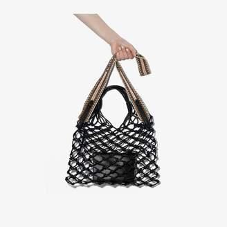 Stella McCartney Eyewear Black Knotted Faux Leather Tote Bag