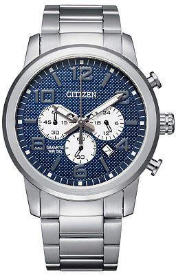 Citizen Quartz Mens Chronograph Silver Tone Stainless Steel Bracelet Watch-An8050-51m Family