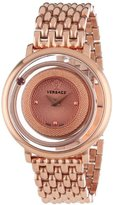 """Versace Women's VFH050013 """"Venus"""" Rose Gold Ion-Plated Watch"""