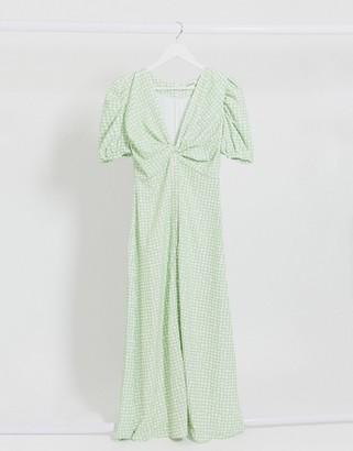 Glamorous midi tea dress in squiggle check