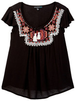 My Michelle mymichelle Embroidered Yoke Top (Big Girls)