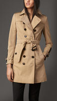 Burberry Zip Detail Gabardine Trench Coat