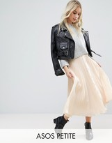 Nude Pleated Skirt - ShopStyle UK