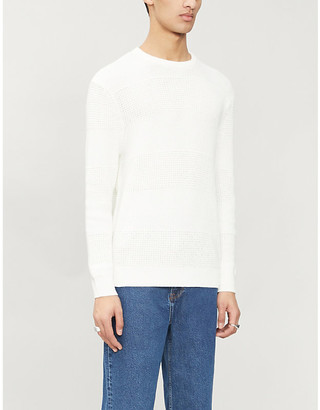 Sandro Leron crewneck cotton-knit jumper