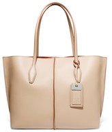 Tod's Joy Medium Textured-leather Tote - Sand