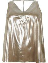 River Island Womens Plus gold T-bar cami top