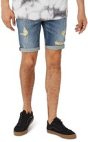Topman Men's Yosemite Rip Skinny Denim Shorts
