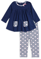 Offspring Elephant Print Tunic & Legging Set (Baby Girls 3-9M)