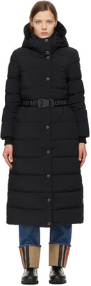 Burberry Black Down Eppingham Coat